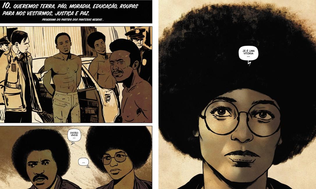 Angela Davis em quadrinhos Foto: Reprodução/Agir