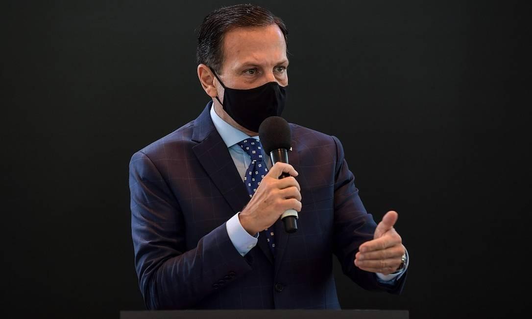João Doria, governador de SP Foto: Nelson Almeida / AFP