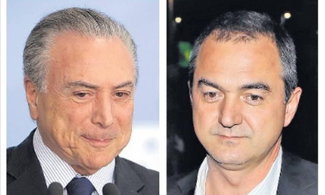 O ex-presidente Michel Temer e o dono da JBS Joesley Batista Foto: Arquivo