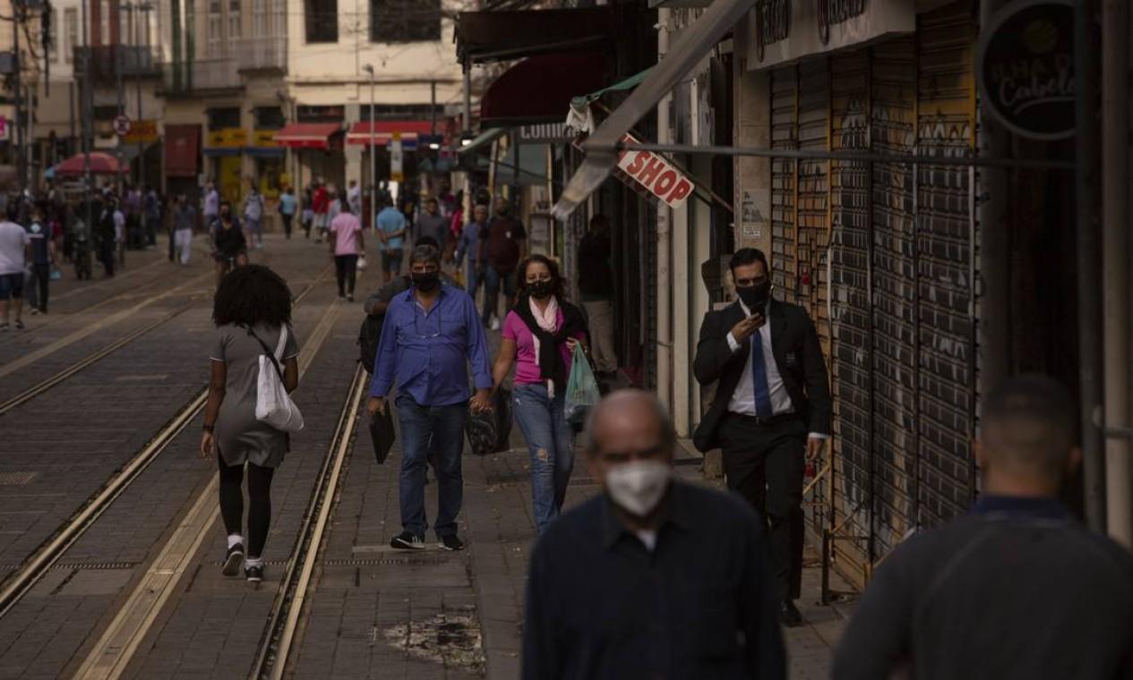 Pelo quarto dia consecutivo, o estado do Rio voltou a apresentar um crescimento da média móvel de mortes maior que 15% em comparação com duas semanas atrás Foto: Gabriel Monteiro / Agência O Globo