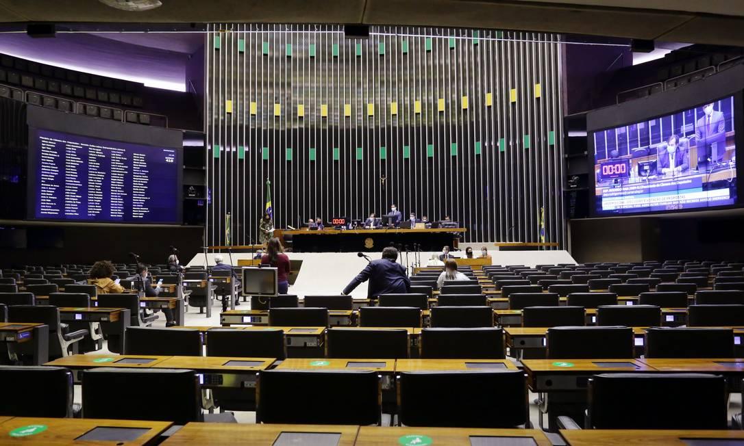 Plenário da Câmara analisa Medida Provisória 959 Foto: MJS / Câmara dos Deputados
