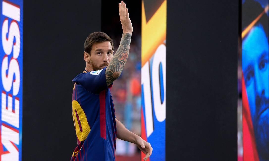 Messi está de saída do Barcelona Foto: JOSEP LAGO / AFP
