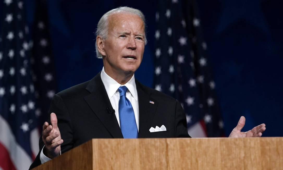 Joe Biden: candidato não teve melhora nas intenções de voto após Convenção Democrata Foto: OLIVIER DOULIERY / AFP/20-08-2020