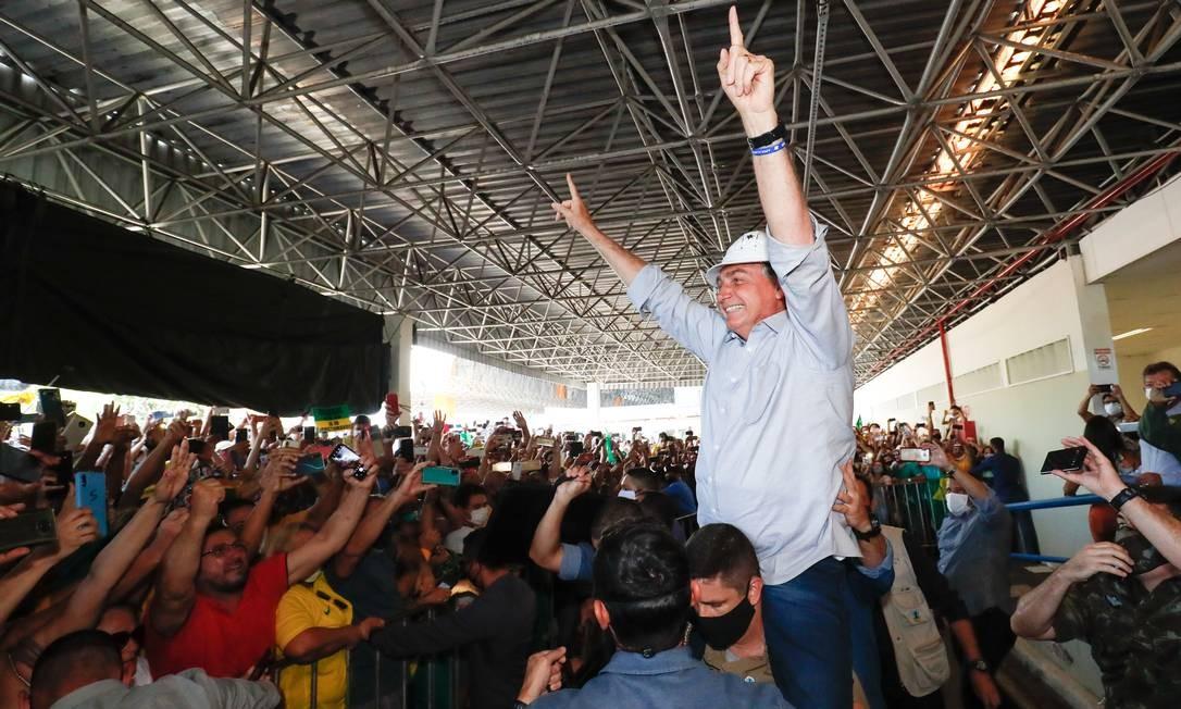 (Aracaju - SE, 17/08/2020) Presidente da República Jair Bolsonaro, durante desembarque na cidade de Aracaju. Foto: Alan Santos/PR Foto: Alan Santos / Divulgação