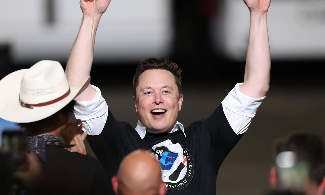 Elon Musk é o quarto homem mais rico do planeta, com fortuna estimada em US$ 95,7 bilhões Foto: Joe Raedle / Photographer: Joe Raedle/Getty I