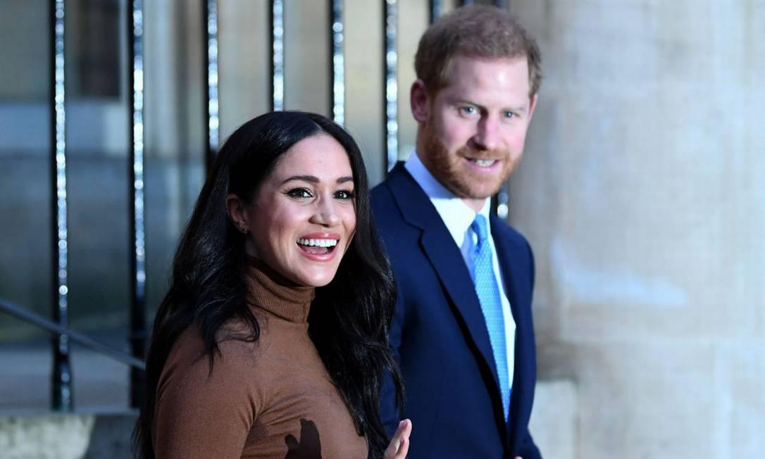 Harry e Meghan deixaram de ser membros seniores da família real no início do ano Foto: WPA Pool / Getty Images