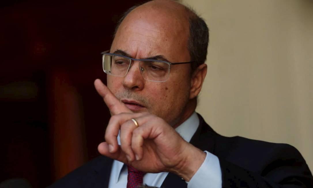 Governador Wilson Witzel faz pronunciamento após ser afastado do cargo por 180 dias Foto: Gabriel Monteiro