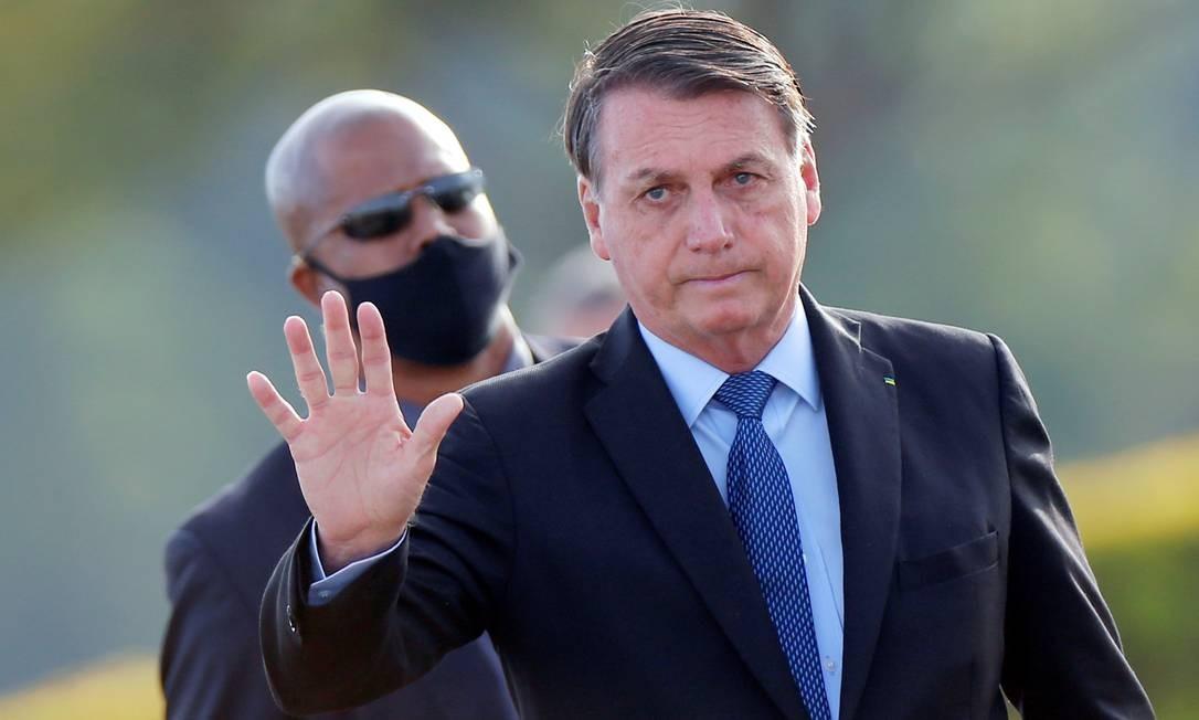 O presidente Jair Bolsonaro, no Palácio da Alvorada Foto: Adriano Machado/Reuters/09-06-2020