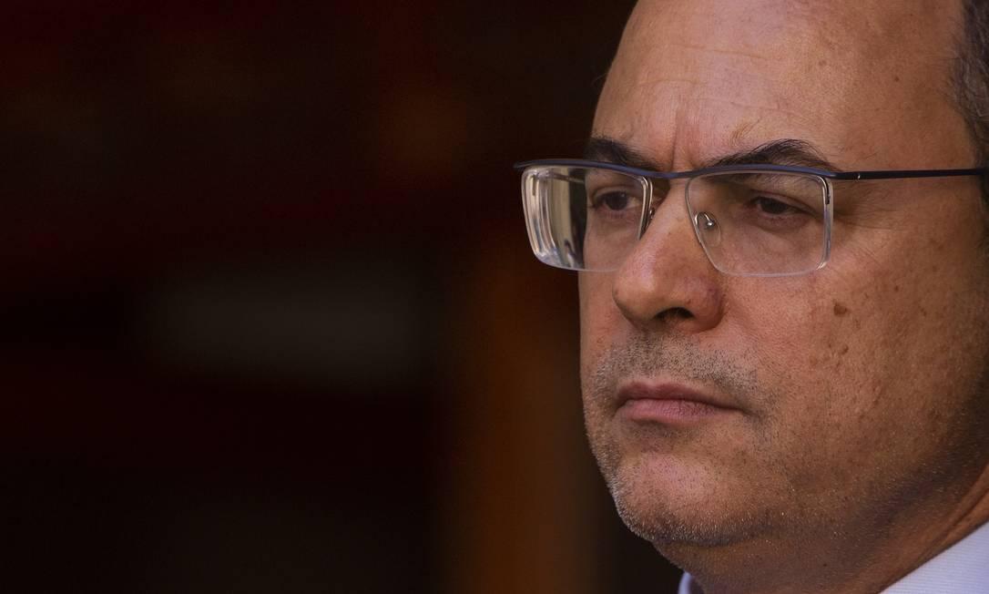 Governador do Estado do Rio de Janeiro, Wilson Witzel, afastado pela Jusitça Foto: Gabriel Monteiro / Agência O Globo