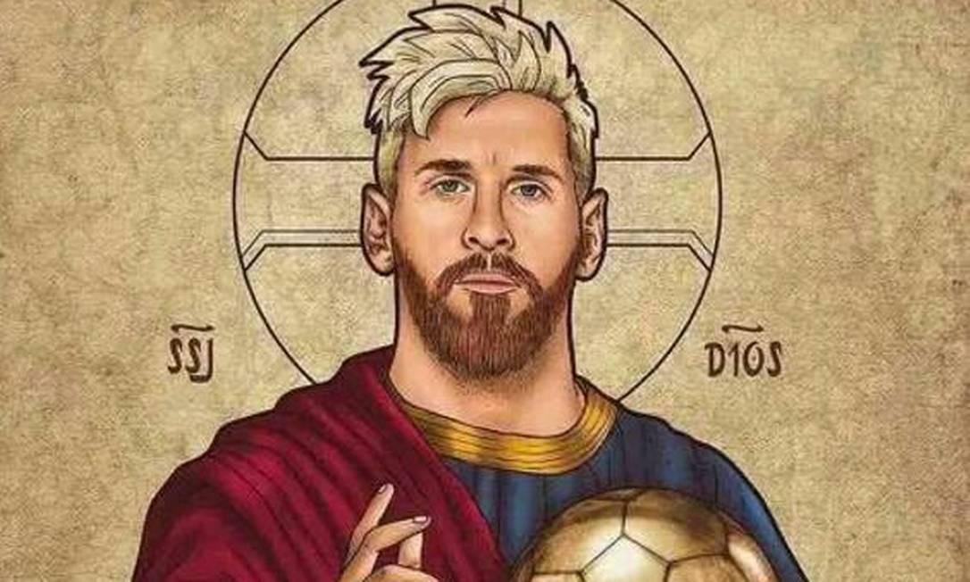 Craque argentino Messi é visto por fãs como um Deus Foto: Reprodução