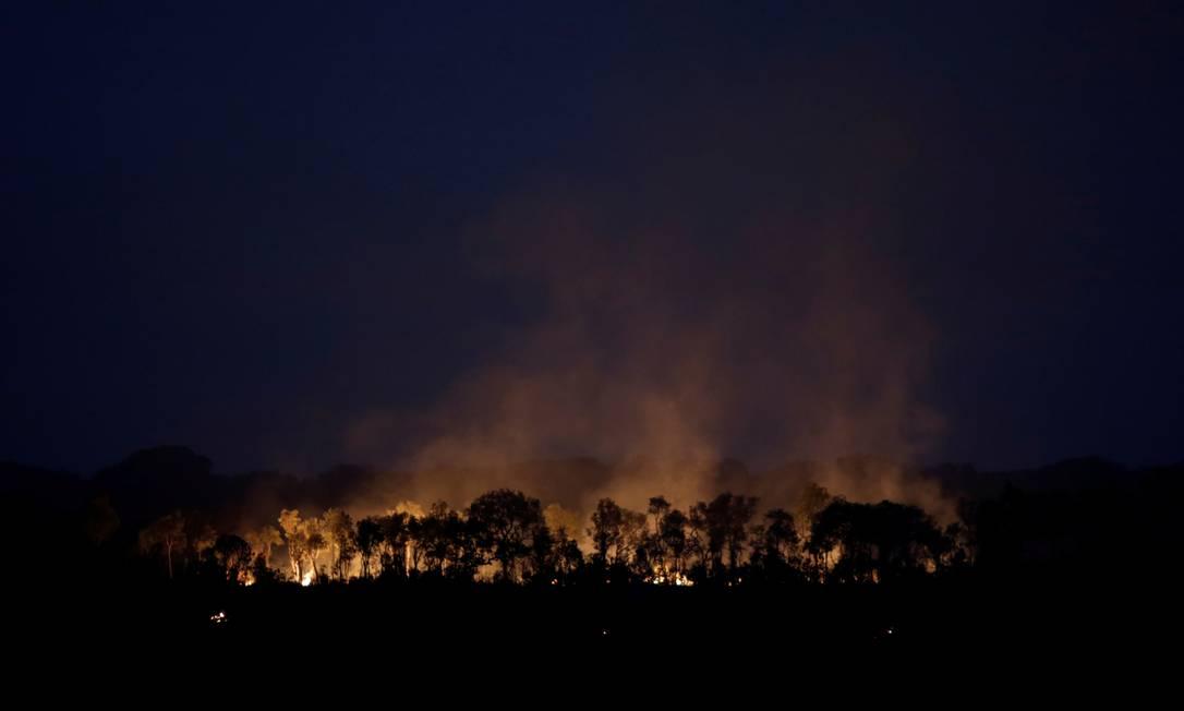 Parte da floresta amazônica em chamas na região de Humaitá, no estado do Amazonas Foto: UESLEI MARCELINO / REUTERS