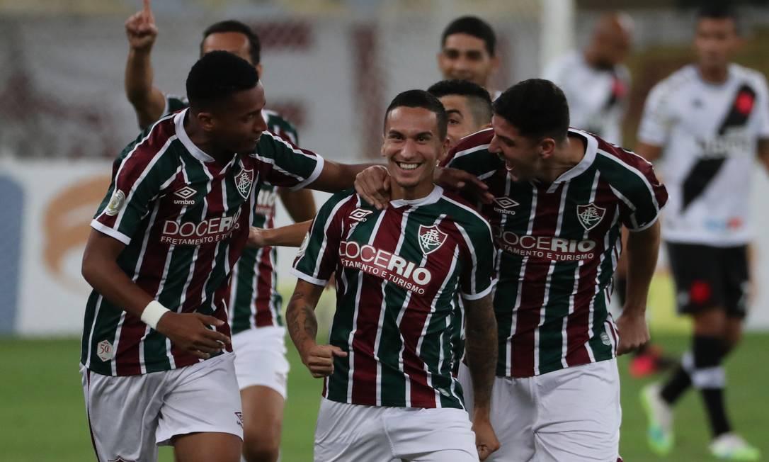 Dodi marcou seu segundo gol pelo Fluminense Foto: SERGIO MORAES/REUTERS