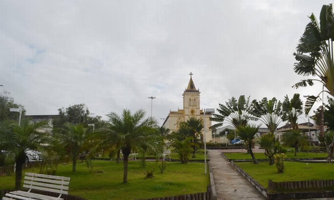Cidade de Castro Alves, na Bahia, vazia após tremor de terra na manhã deste domingo Foto: Foto: Leandro Alves/Blog Bahia10