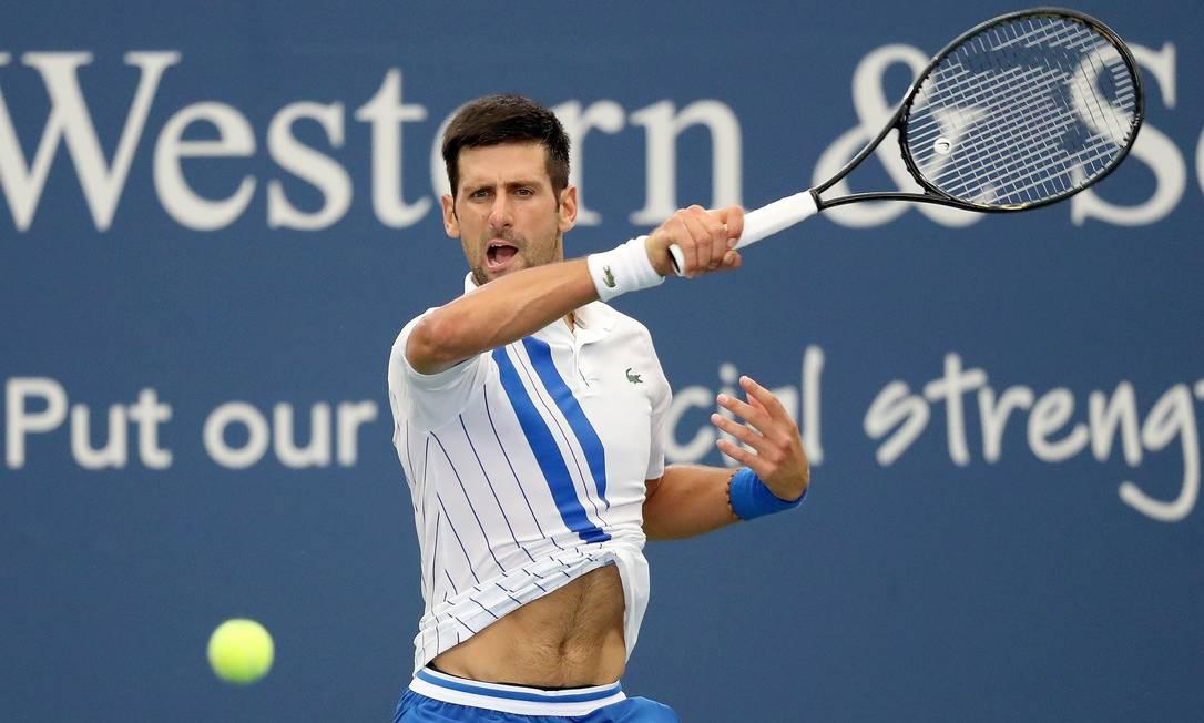 O número um do mundo Novak Djokovic é o favorito para conquistar o US Open Foto: MATTHEW STOCKMAN / AFP
