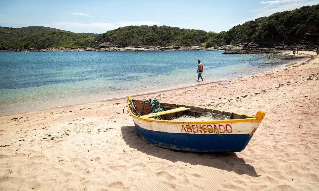 Praia em Búzios, na Região dos Lagos do Estado do Rio Foto: Hermes de Paula / Agência O Globo