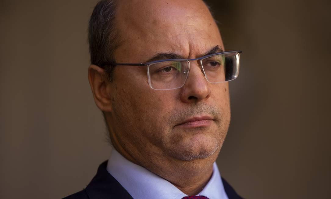 O governador afastado do Rio Wilson Witzel Foto: Gabriel Monteiro / Agência O Globo / 28-08-2020