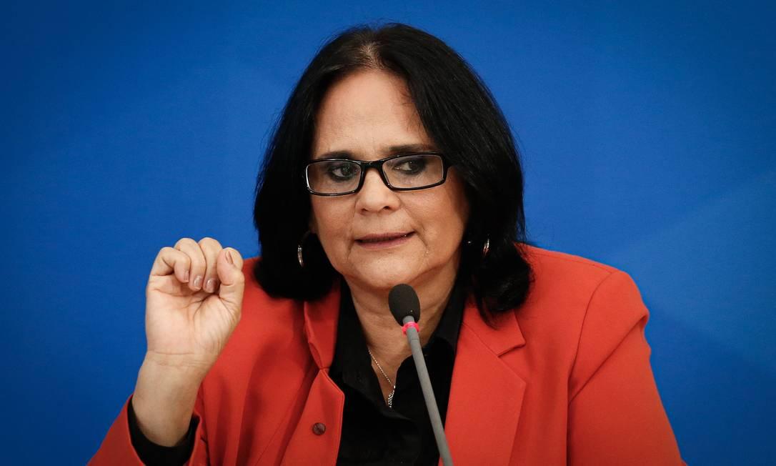 Damares Alves, ministra da Mulher, Família e Direitos Humanos Foto: Pablo Jacob / Agência O Globo