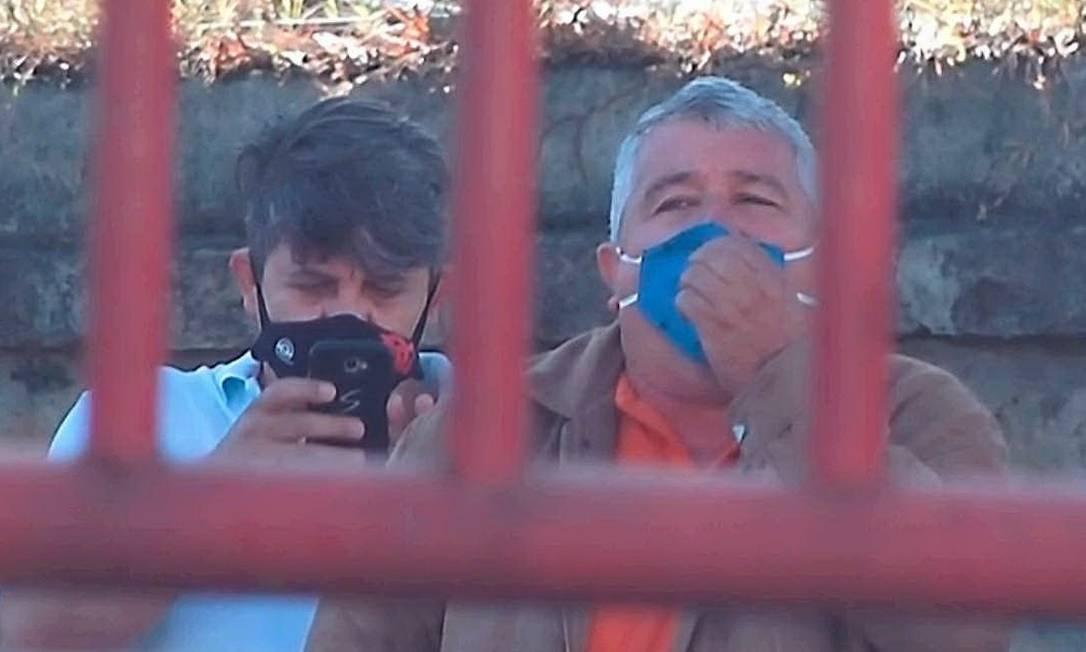 Dentinho e Marcelo, dois 'guardiões' Foto: Reprodução
