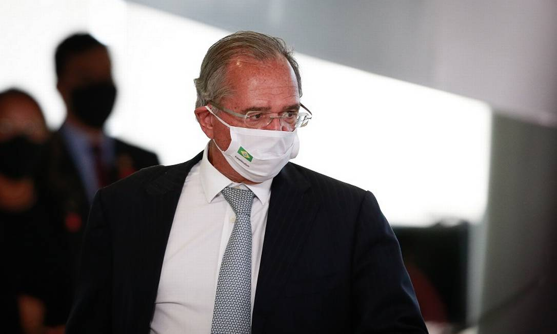 """Guedes: """"foi apenas um lamento"""", disse ministro a senadores. Foto: Pablo Jacob / Agência O Globo"""