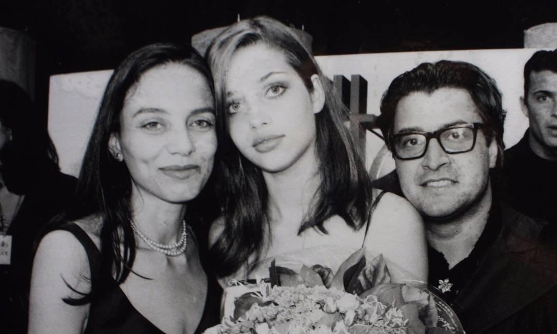 Liliana Gomes com Ana Beatriz Barros e Sérgio Matos Foto: Arquivo pessoal