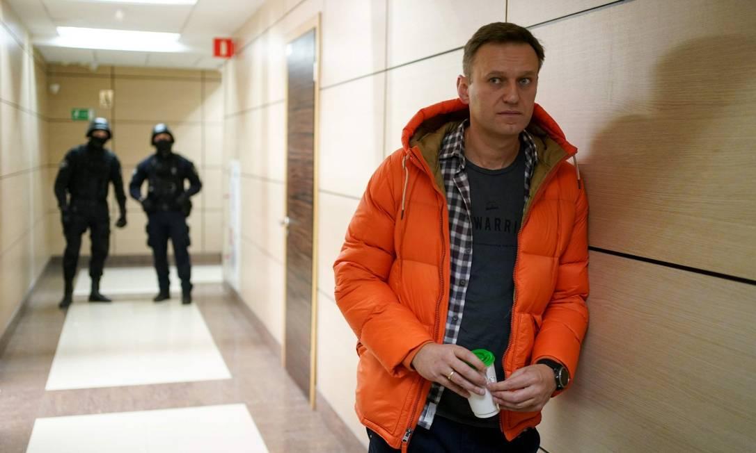Alexei Navalny, no prédio de sua fundação anticorrupção Foto: DIMITAR DILKOFF / AFP / 26-12-2019