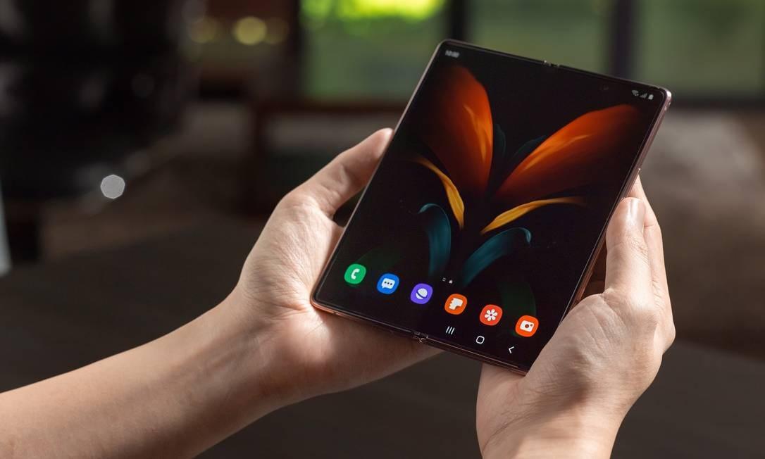 Samsung anuncia produção de celular dobrável 5G no Brasil Foto: Divulgação