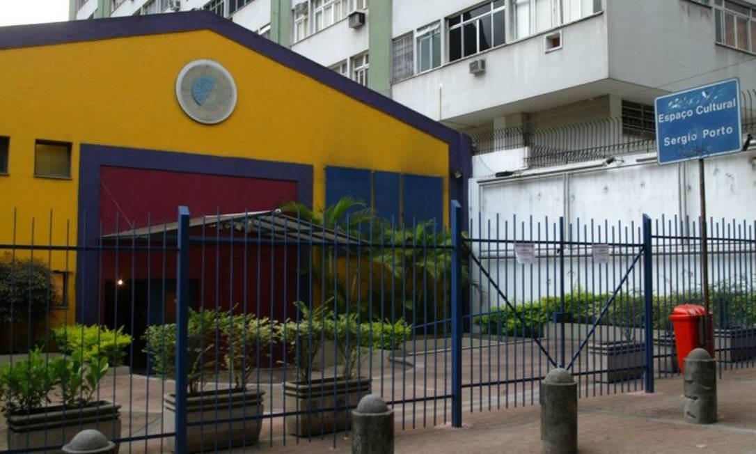 Espaço Cultural Sérgio Porto, no Humaità, zona sul do Rio de Janeiro teve a energia cortada Foto: Berg Silva / Infoglobo