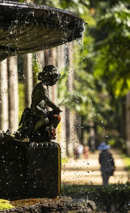 Após 4 meses de fechamento devido ao isolamento social, o Jardim Botânico abriu no meio de julho para o público, com regras sanitárias Foto: Ana Branco / Agência O Globo