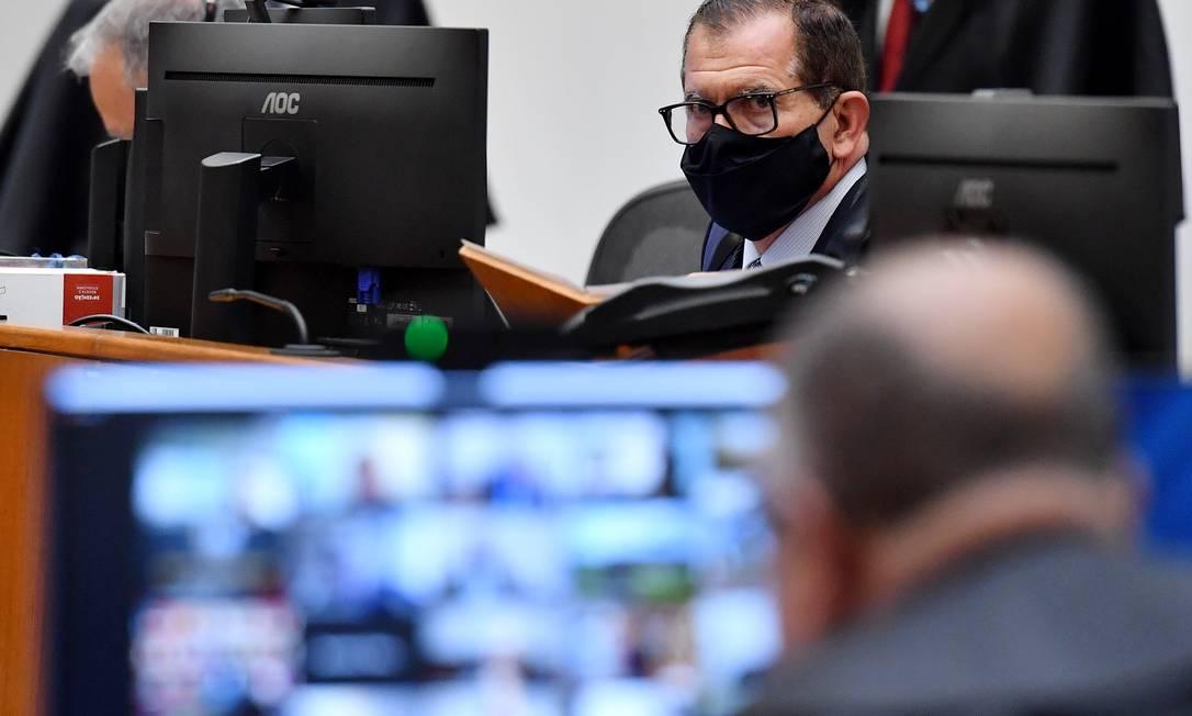 Ministros do STJ estão reunidos, neste momento, para julgar se o governador do Rio de Janeiro, Wilson Witzel, continuará afastado do cargo ou não Foto: Divulgação / Gustavo Lima - STJ