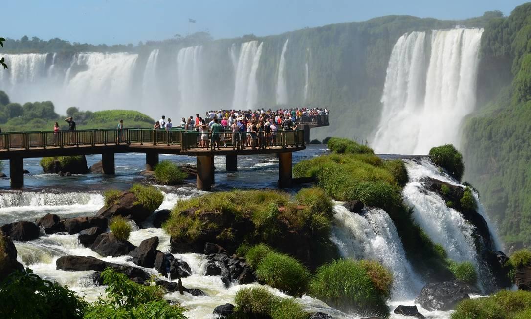 As cataratas do Parque Nacional do Iguaçu, no Paraná Foto: Divulgação