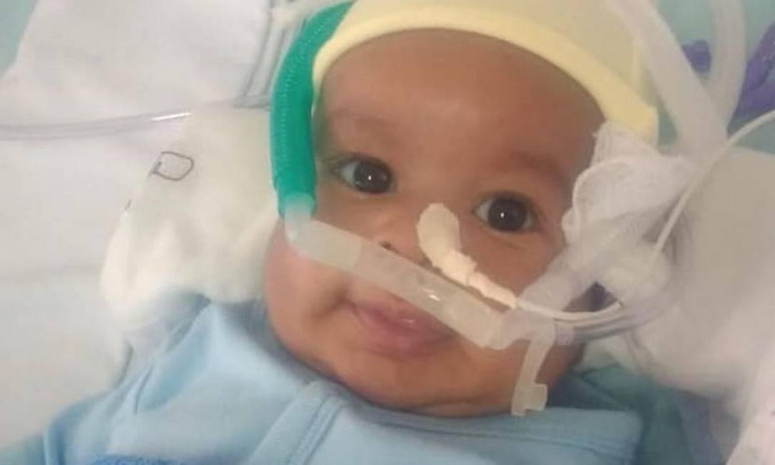 Uriel foi diagnosticado com AME tipo 1 (atrofia muscular espinhal), uma doença neurodegenerativa que pode levar à morte ou incapacidade total antes de dois anos de idade Foto: Reprodução