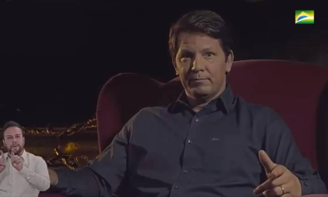 Mário Frias grava vídeo para apresentar série do governo Foto: Reprodução
