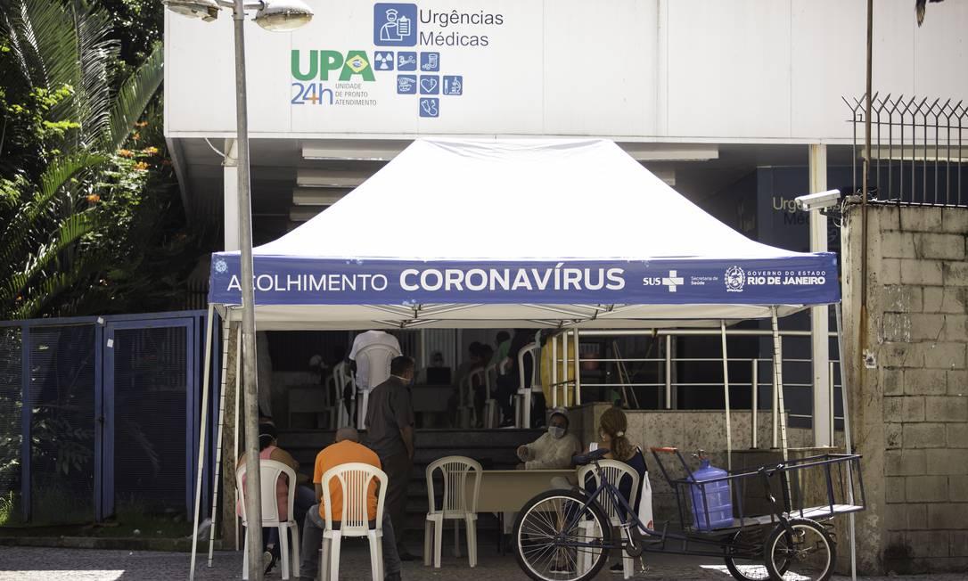 A UPA de Copacabana é uma das unidades administradas pela OS Viva Rio Foto: Gabriel Monteiro/21-4-2020 / Agência O Globo