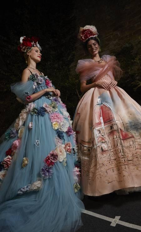 Os belos vestidos da coleção Alta Moda Foto: CHIARA PREDEBON / Divulgação