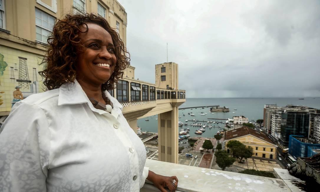 PA- Major Denice Santiago, candidata do PT à prefeitura de Salvador Felipe Iruata Foto: FELIPE IRUATA / Agência O Globo