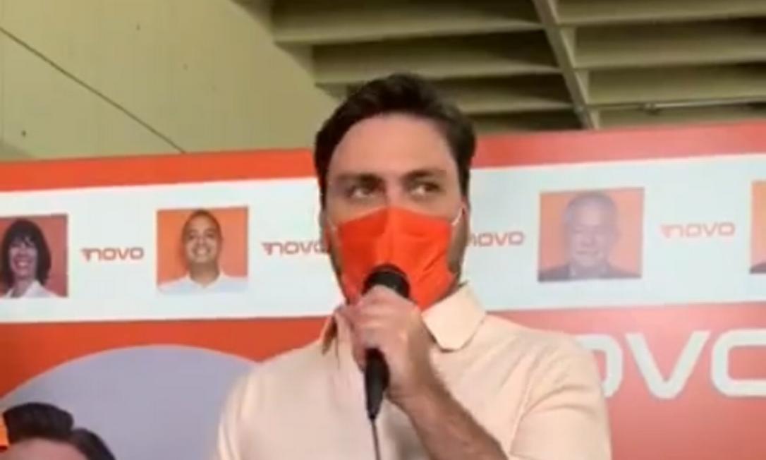 A convenção aconteceu em sistema de drive-thru e aprovou a candidatura do ex-secretário de Doria para a eleição municipal Foto: Dilvulgação