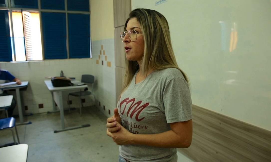 Valquíria de Assis, diretora em 2016 na escola Dom Constantino Lüers, em Alagoas, reconhecida como exemplo de boa liderança escolar Foto: Divulgação Canal Futura/Cinepoesias