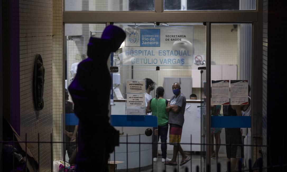 Hospital Estadual Getulio Vargas na Penha, em 4/9/2020 Foto: Alexandre Cassiano / Agência O Globo