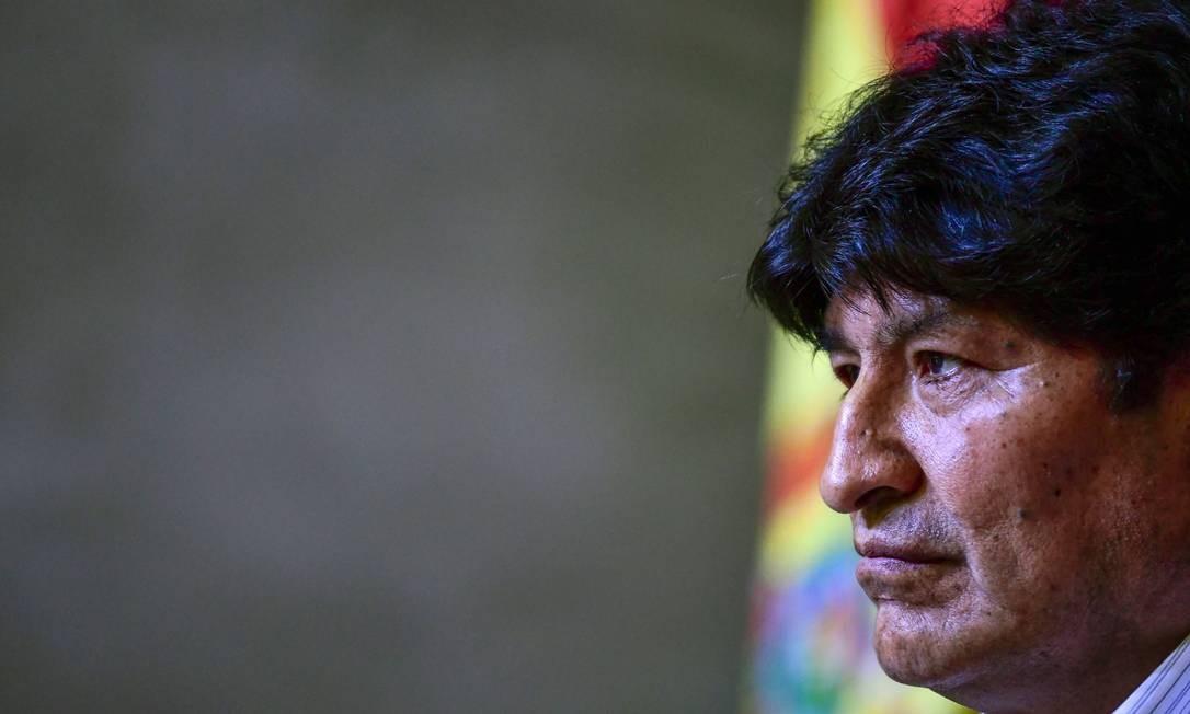 O ex-presidente da Bolívia, Evo Morales Foto: Ronaldo Schemidt / AFP