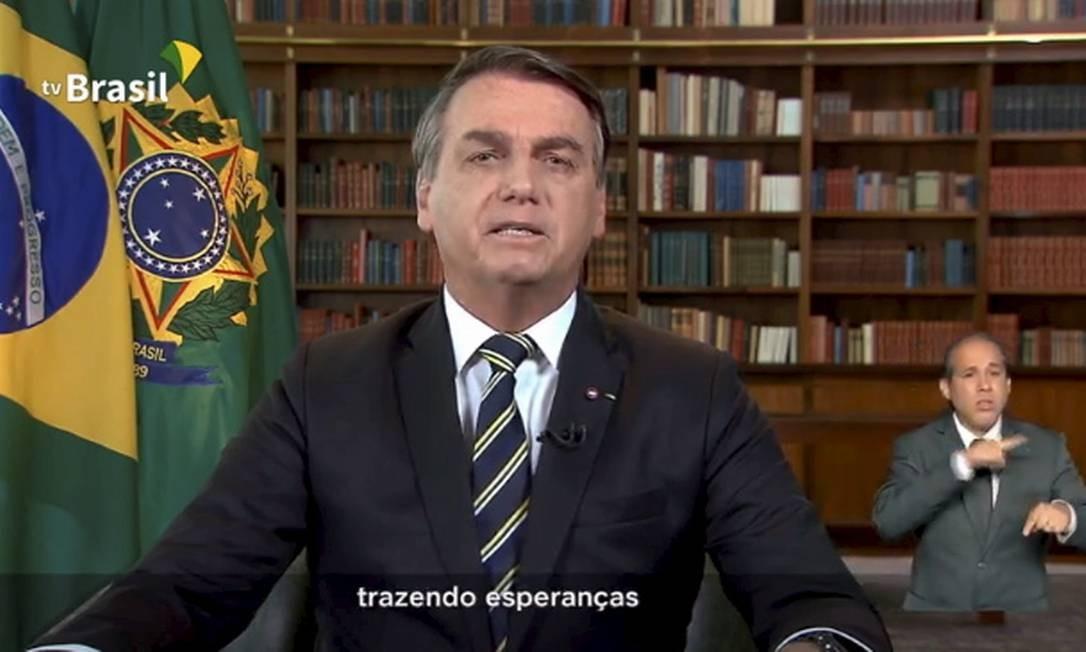 Bolsonaro faz pronunciamento na TV no feriado do Dia da Independência Foto: Reprodução