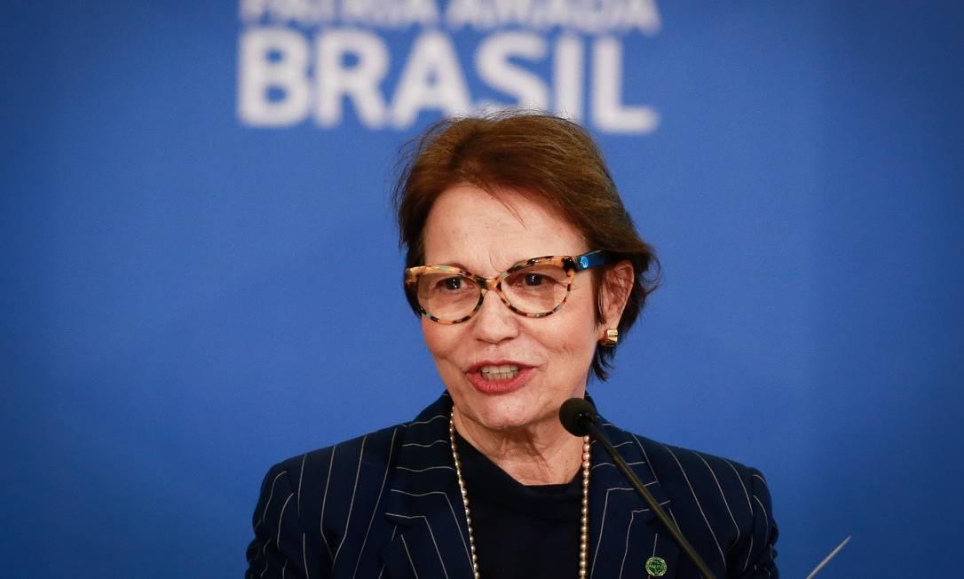 A ministra admitiu que o preço está alto Foto: Pablo Jacob / Agência O Globo