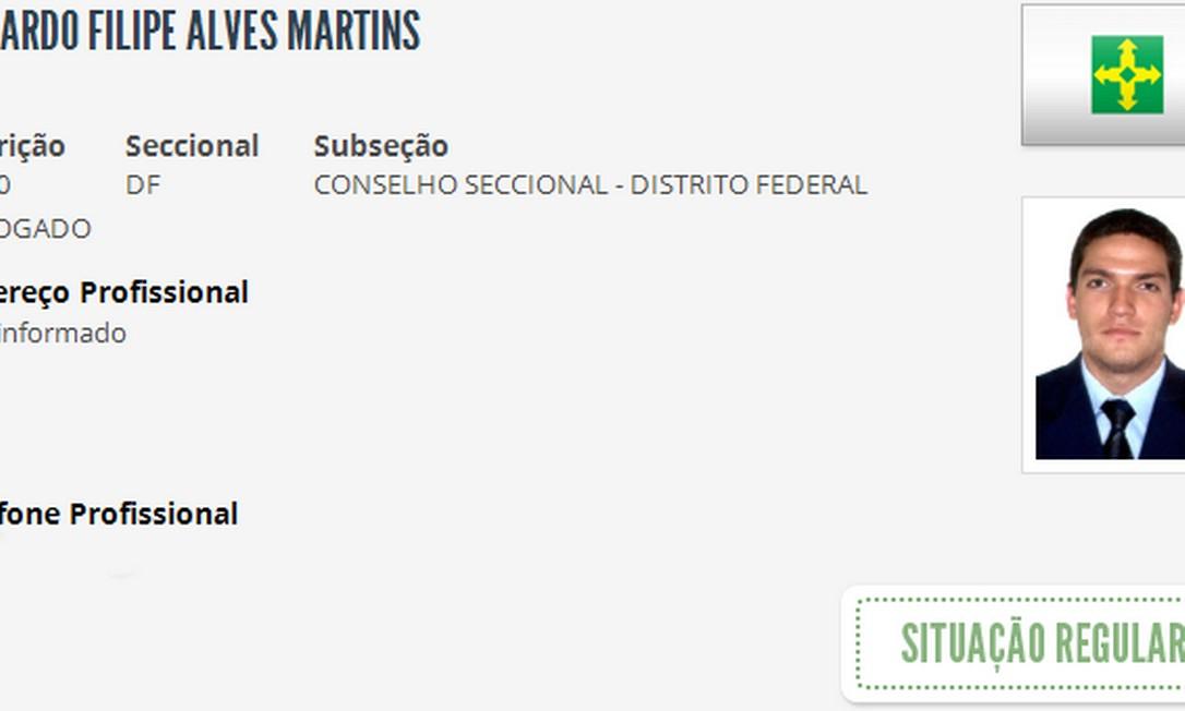 Advogado Eduardo Martins, filho do presidente do Superior Tribunal de Justiça (STJ) Humberto Martins Foto: Reprodução