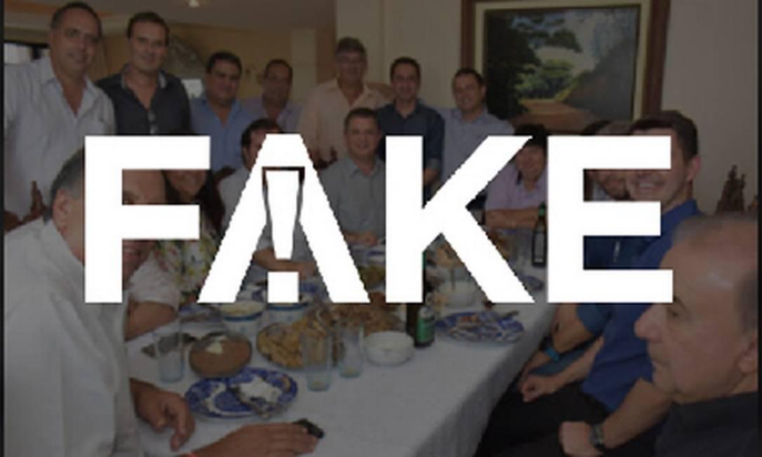 É #FAKE que foto que mostra Maia ao lado de Pezão seja recente Foto: Reprodução