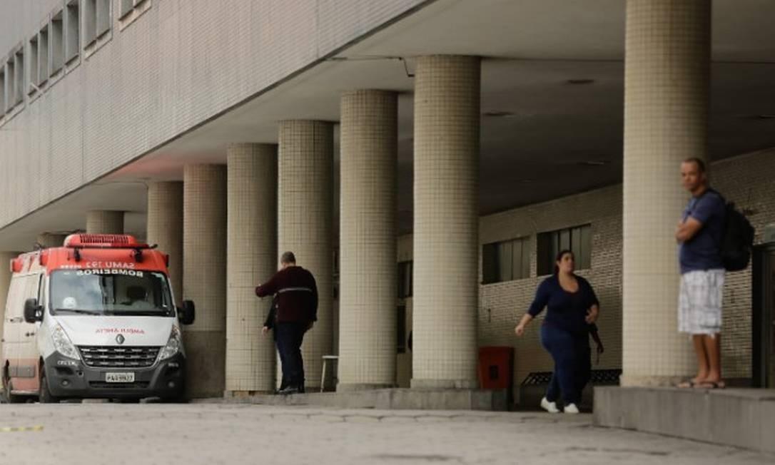 O Hospital Souza Aguiar, onde a vítima do assalto foi atendida Foto: Brenno Carvalho / Agência O Globo / 08-07-2019