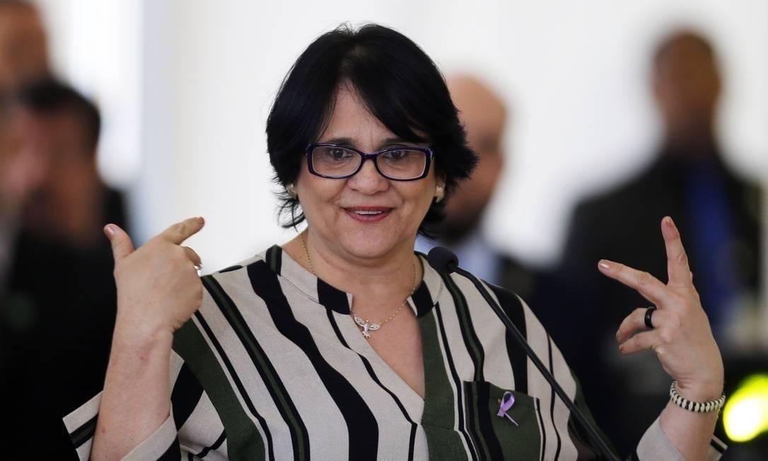 Damares Alves, ministra dos Direitos Humanos Foto: Jorge William/Agência O Globo