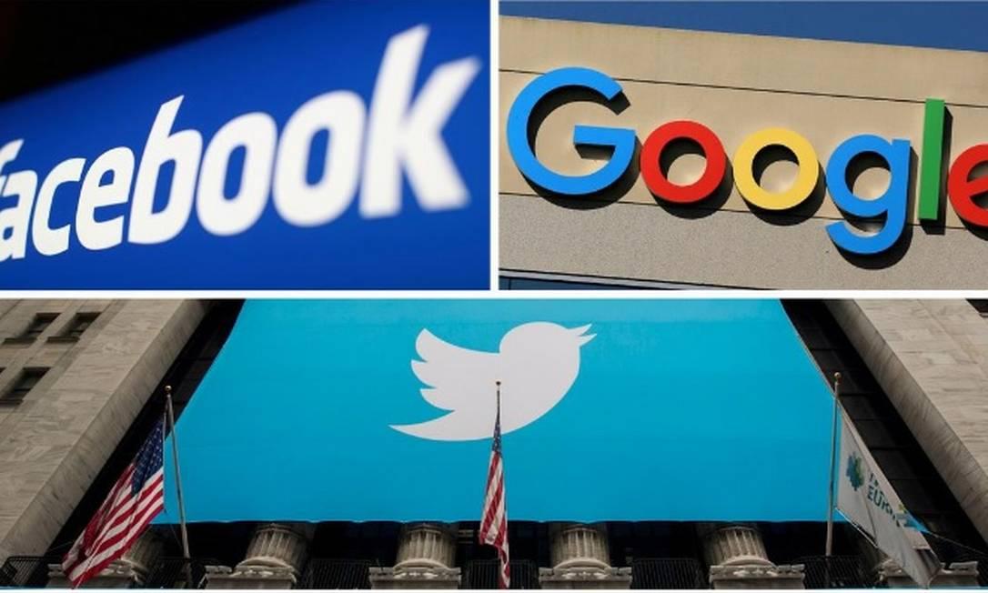 UE pede maior empenho de Facebook, Google e Twitter no combate às notícias falsas Foto: Montagem/Reuters