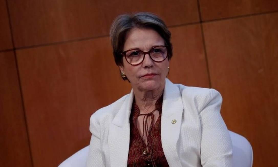 Ministra da Agricultura, Tereza Cristina Foto: Arquivo