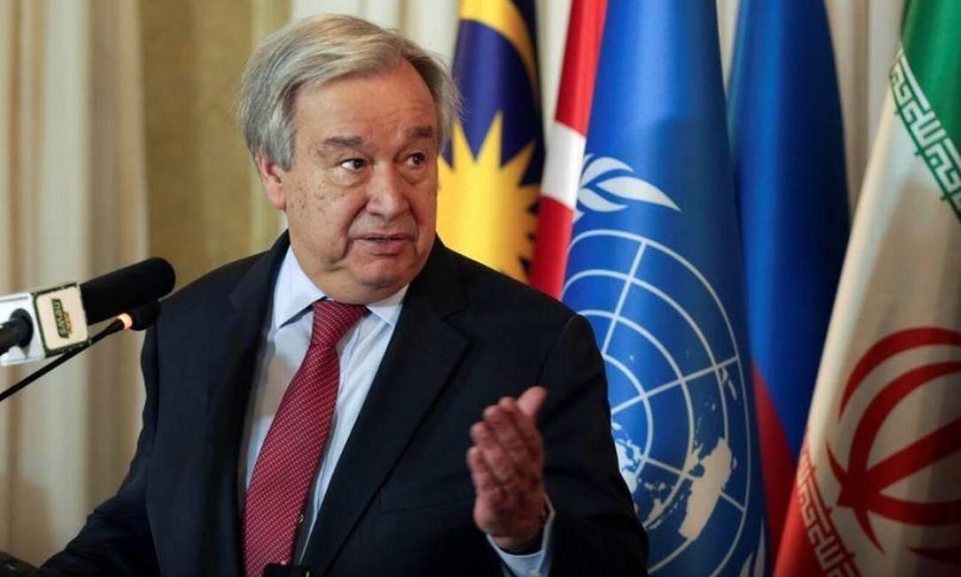 Secretário-geral da Organização das Nações Unidas (ONU), António Guterres Foto: Reuters