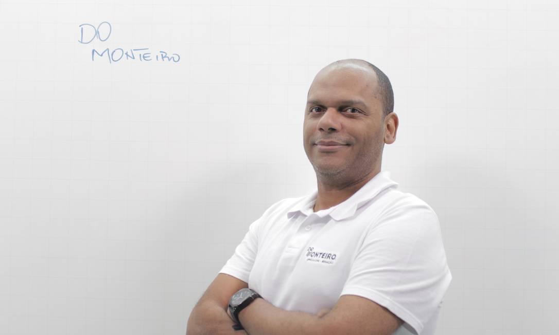 O professor de língua portuguesa Sérgio Monteiro toca o projeto Missão Enem Foto: Acervo Pessoal