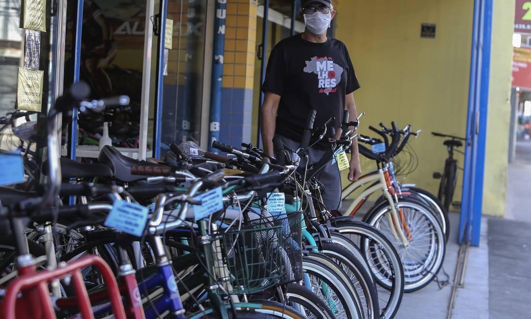 Lojistas recuperaram faturamento perdido no início da pandemia com alta das vendas de bicicletas Foto: Luis Alvarenga / Getty Images